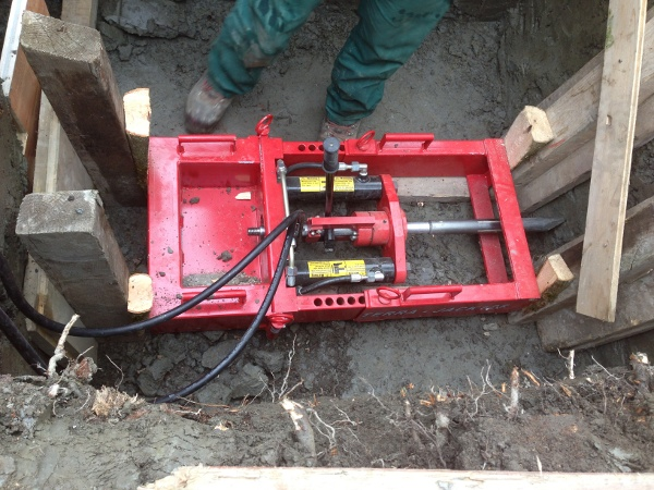 TERRA JACK presst neue Gasleitung© TERRA AG, Reiden, Switzerland