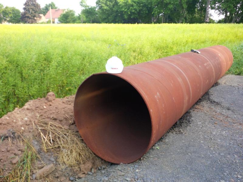 Stahlrohr als Mastfundament, steel pipe as foundation © TERRA AG, Reiden, Switzerland